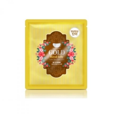Гидрогелевая маска с частичками золота и маточным малочком с эффектом лифтинга Petitfee KOELF Gold & Royal Jelly Mask Pack