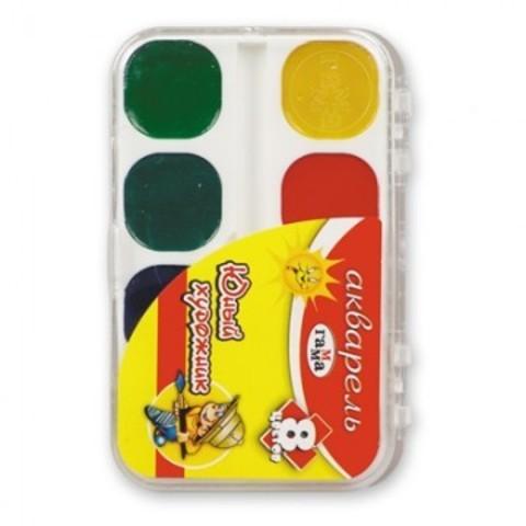 Акварельные краски Гамма Юный художник медовые 8 цветов