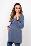 Туника для беременных 07214 синий