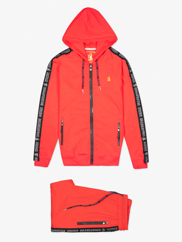 "Red zip hoodie ""VELIKOROSS"""