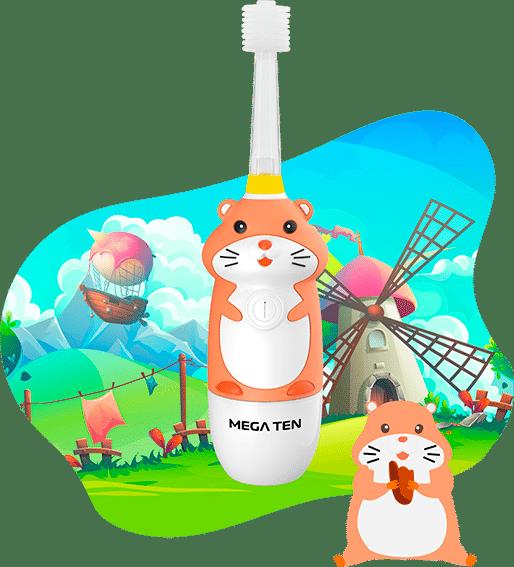Зубная щетка «Хомячок» Megaten Kids Sonic