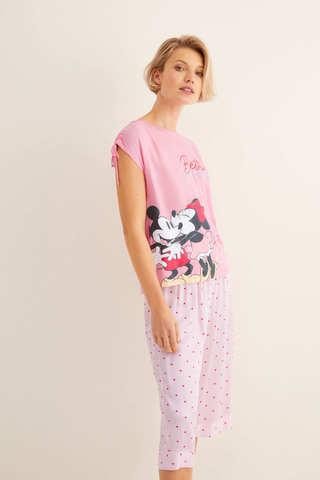 Піжама з принтом «Міккі Маус і Мінні Маус», зі штанами капрі