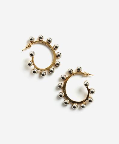 Серьги Love pearls creoles золотистые