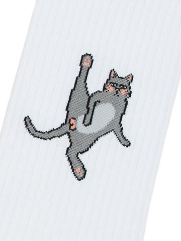 Носки Коты спорт белые