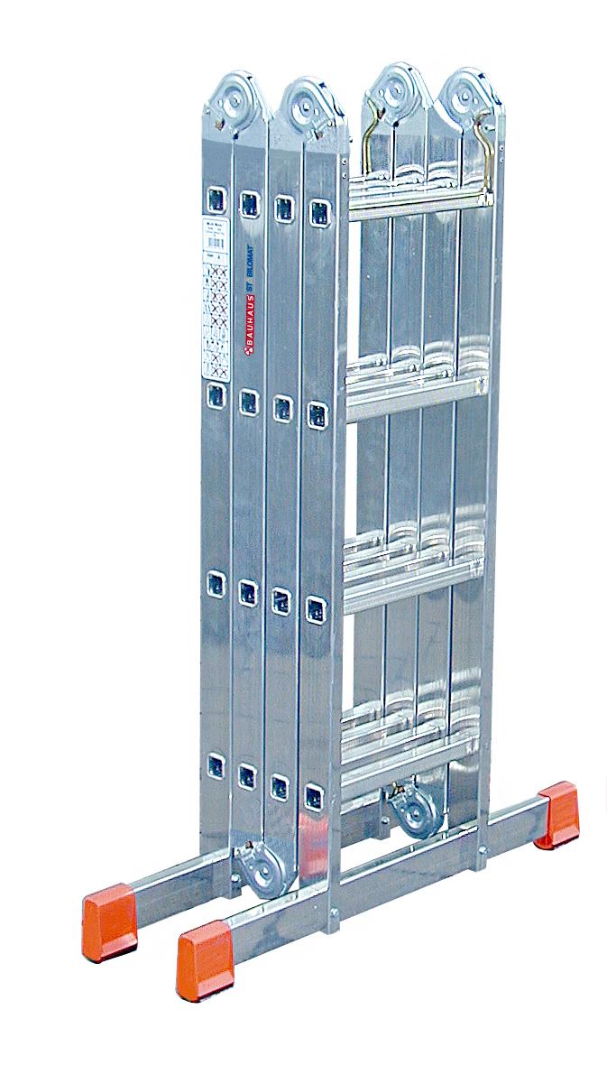 MULTIMATIC Шарнирная универсальная стремянка-трансформер,4*4( 120649)