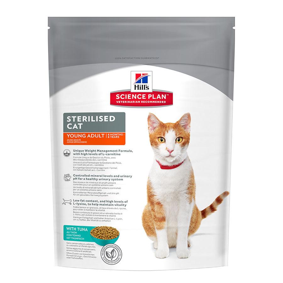 купить хиллс Hill's™ Science Plan™ Feline Sterilised Cat Young Adult with Tuna сухой корм для котят и стерилизованных кошек с 6 мес. до 6 лет с тунцом 1.5 кг