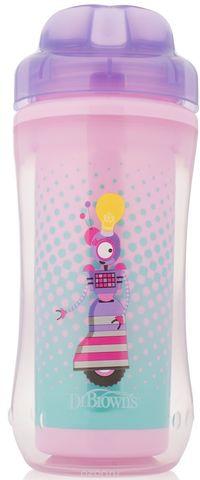 Чашка-термос 300 мл, без носика, 12+ месяцев, (фиолетовый)