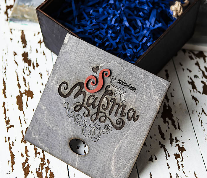 BOX219-1 Большая коробка для подарков к 8 марта (17*17*10 см) фото 05