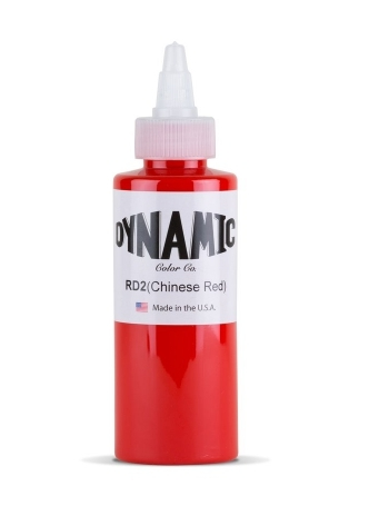 """Краска для татуировки Dynamic Colors """"Chinese Red - Морковный Красный"""""""