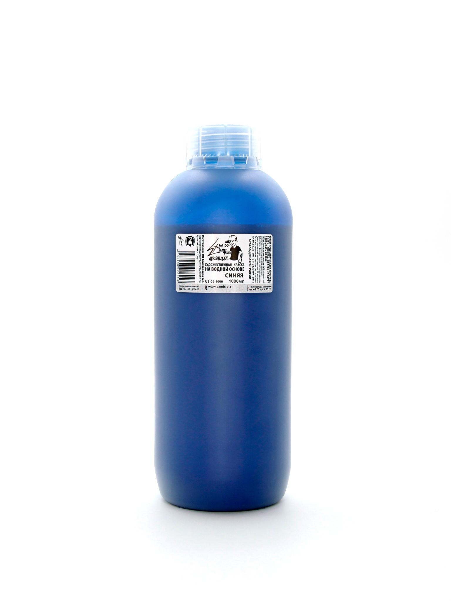 Краска Exmix Краска укрывистая Exmix 05 Синий 1000 мл US-05-1000.jpg