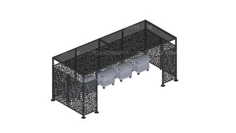 Ограждения для мусорных контейнеров NVS0015