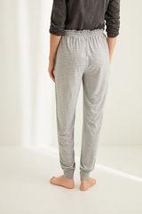 Сірі штани-джоггери в смужку
