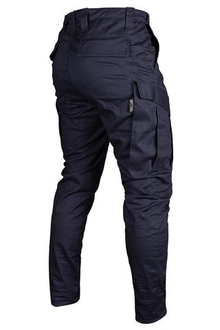 Бомбические брюки карго из ткани стрейч купить цвет синий navy Варгградъ за 5999р