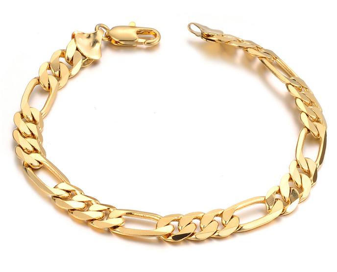 Солидный мужской позолоченный браслет из стали с комбинированным плетением Steelman mn00204