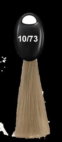 OLLIN N-JOY 10/73 – светлый блондин коричнево–золотистый, перманентная крем-краска для волос 100мл