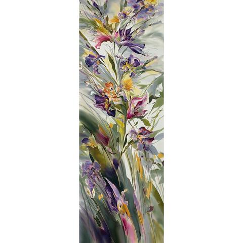 Шелковый палантин батик Мелодия цветов С-51