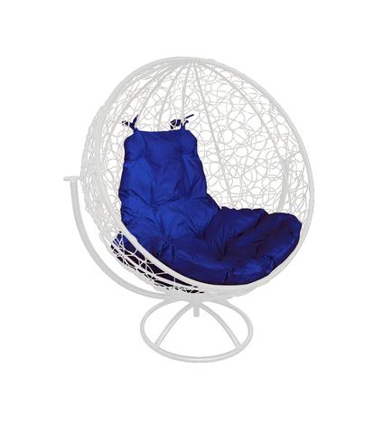 Кресло вращающееся Milagro white/blue