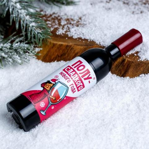 Открывалка - магнит для бутылок  «Полу-сладкого Нового года»
