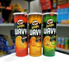 Чипсы Pringles Wavy Roasted jalapeno Принглс рифлёные жареный халапеньо 130 гр