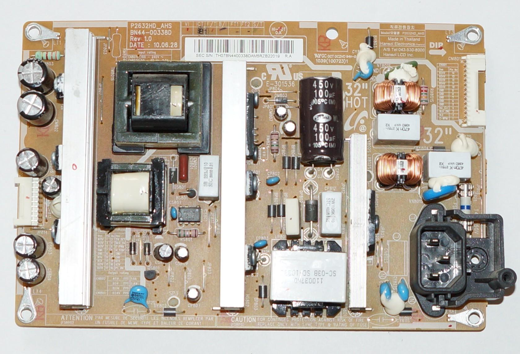 BN44-00338D P2632HD_AHS блок питания телевизора Samsung