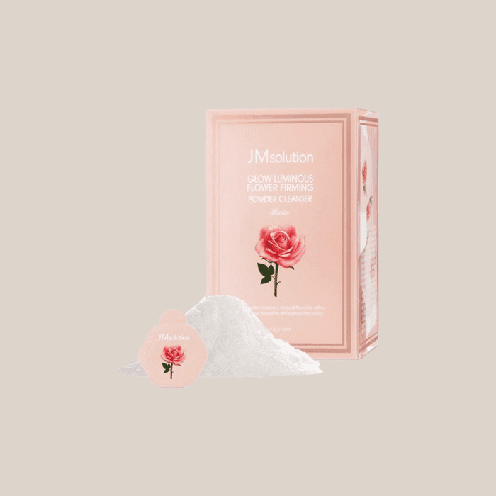 Пудра для лица энзимная с экстрактом розы JM Solution Glow Luminous Flower Firming Powder Cleanser