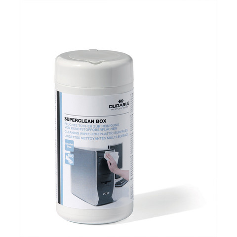 Салфетки Durable Superclean box в тубе для пластика (100 штук)