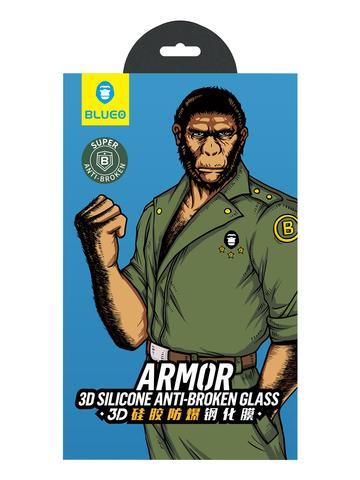 Защитное стекло BlueO для iPhone 11/XR закален. с олеоф.покр. | 3D с армир.кромкой черное 0.26мм