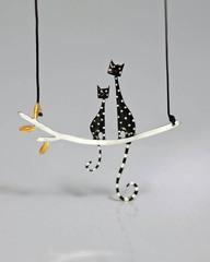 Кулон «Черные кошки», Греция