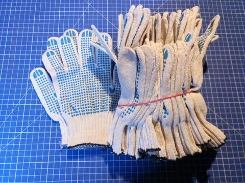 Перчатки 10 класс (5 нитей) с ПВХ (10 пар)