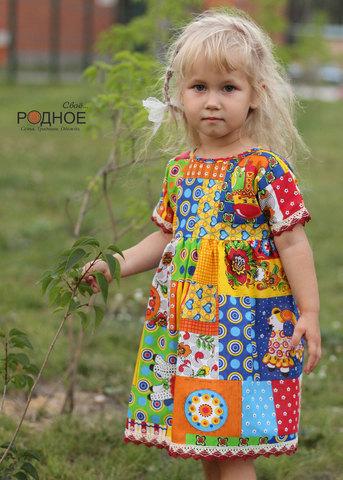 платье для девочки в русском стиле из натуральных материалов Свое... Родное для Иванка
