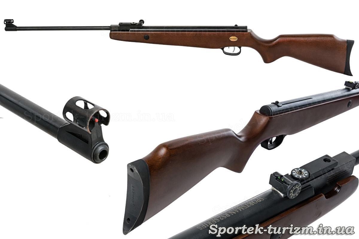 Стовбур, приклад, приціл пневматичної гвинтівки Beeman RS2