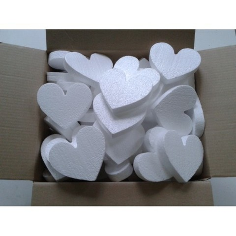 Сердце из пенопласта 7 см.