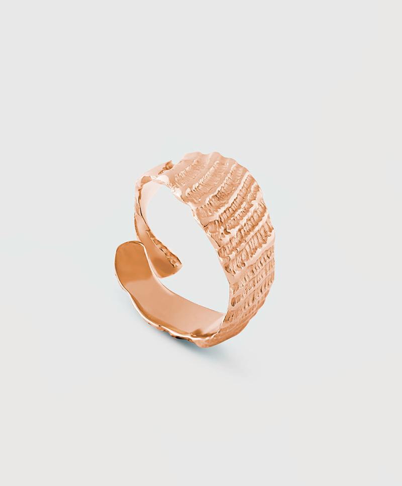 Кольцо-осколок разомкнутое