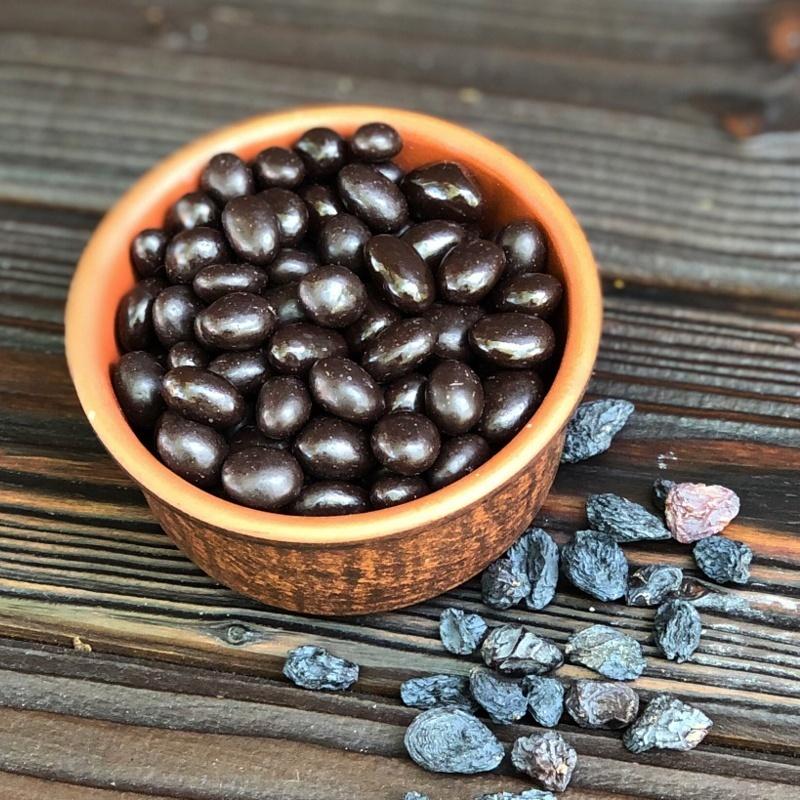 Фотография Изюм в темном шоколаде / 250 гр купить в магазине Афлора