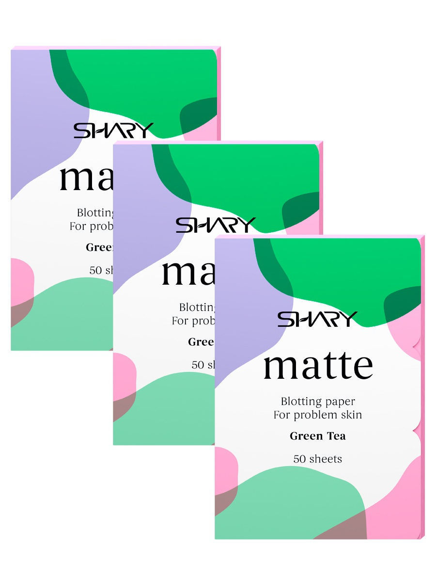 Матирующие салфетки Shary Professional Green Tea для проблемной кожи 50 шт