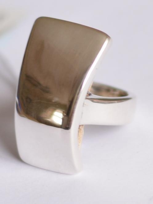 Трапеция (кольцо из серебра)