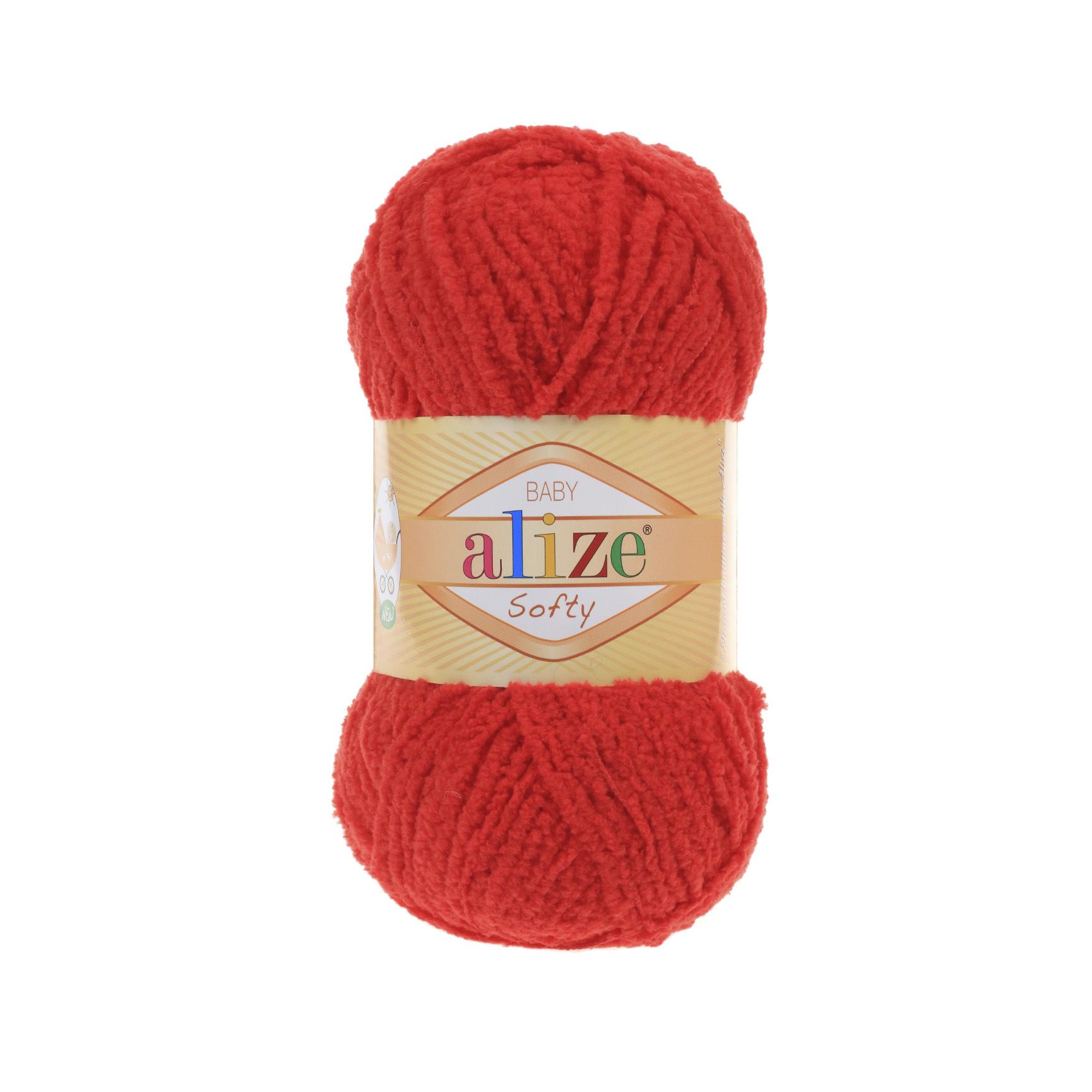 Пряжа Alize Softy красный 56