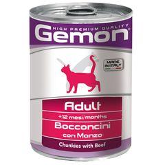 Консервы для кошек Gemon Cat кусочки говядины
