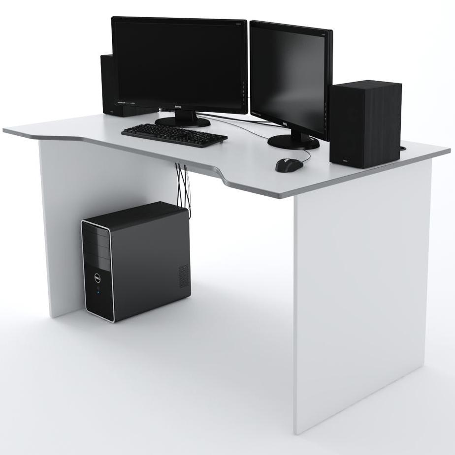 Стол Компьютерный Jedi 1400 Белый/Серый