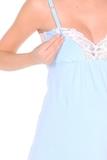 Ночная сорочка для беременных и кормящих 09910 голубой