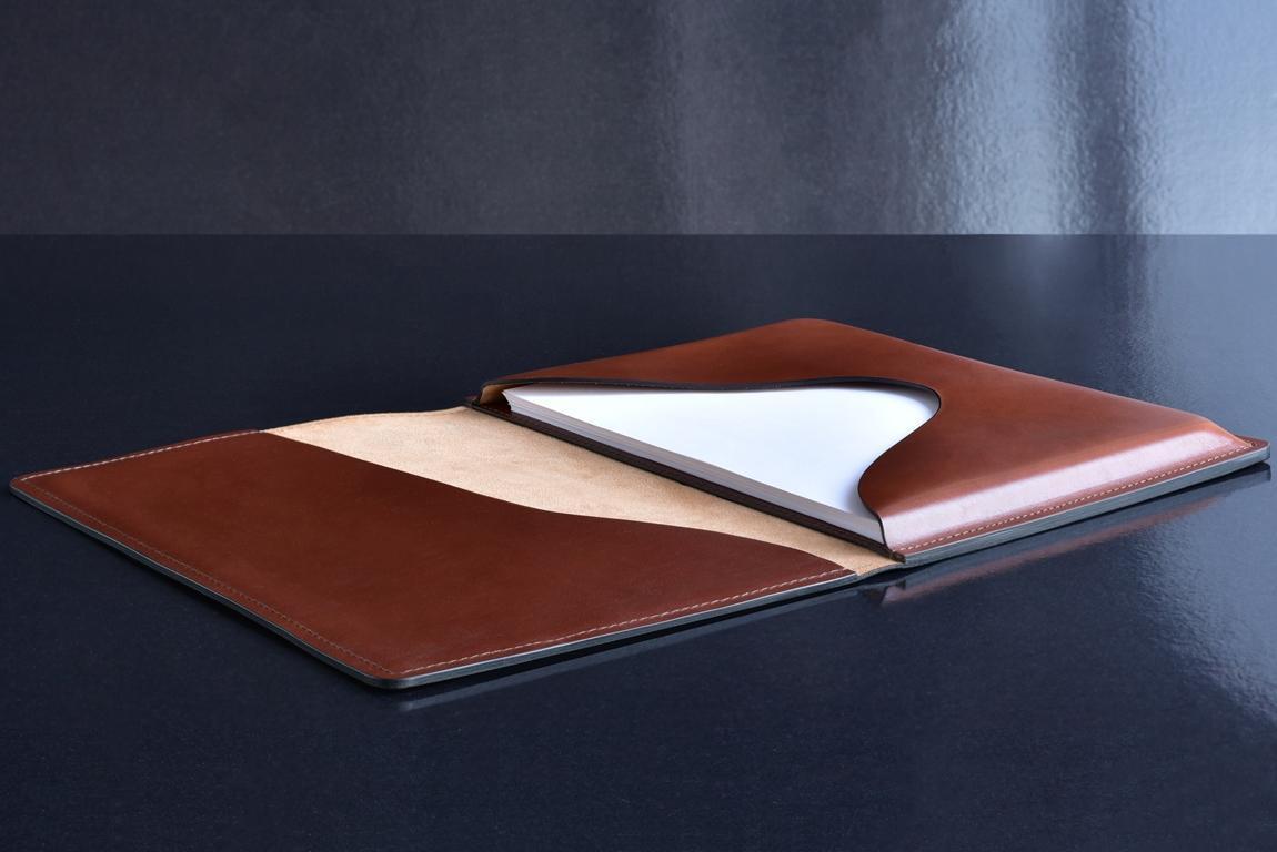 Папка для бумаг из кожи  FULL GRAIN Toscana цвет  DK TAN