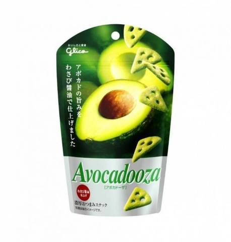 Сырные чипсы Glico Avokadoza с авокадо 40 гр