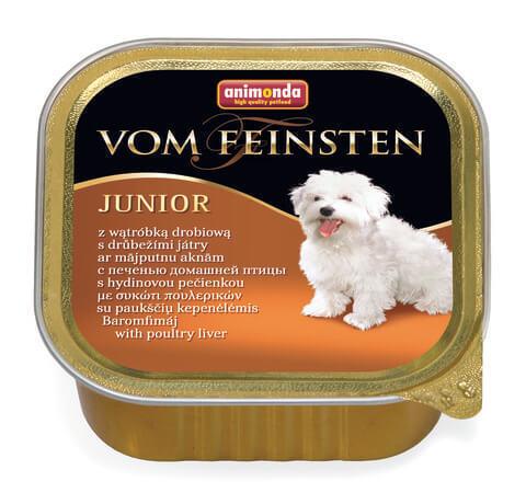 Animonda Vom Feinsten Junior с печенью домашней птицы для щенков и юниоров