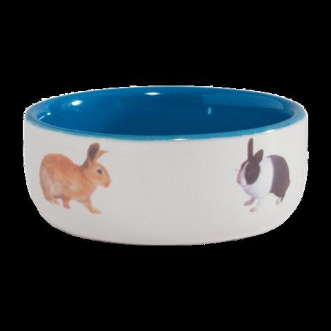 Beeztees Миска для грызунов керамическая с изображением кролика