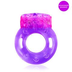 Эрекционное кольцо с вибрацией (фиолетовое)