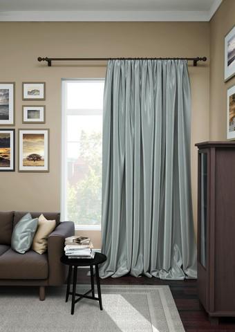 Готовая штора сатен Авери с подхватом темно-серый