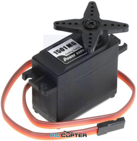 Сервопривод PowerHD 1501MG (15.5-17 кг/см, 0.16-0.14 сек/60°, 60г)