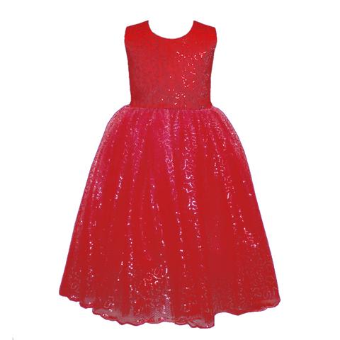 Платье красное с пайетками