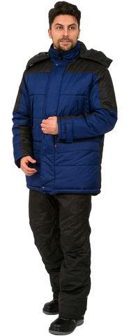 Куртка Европа зимняя , синий/черный тк.Дюспо