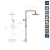 Душевая система с термостатом и тропическим душем для ванны DRAKO 335403RPK225 - фото №2